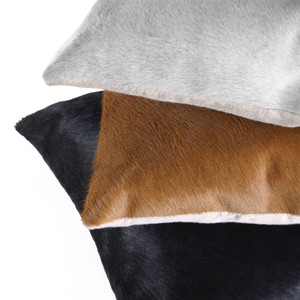 Laurel Canyon Hide Pillow Cowhide Black, Golden Brown or Off-White