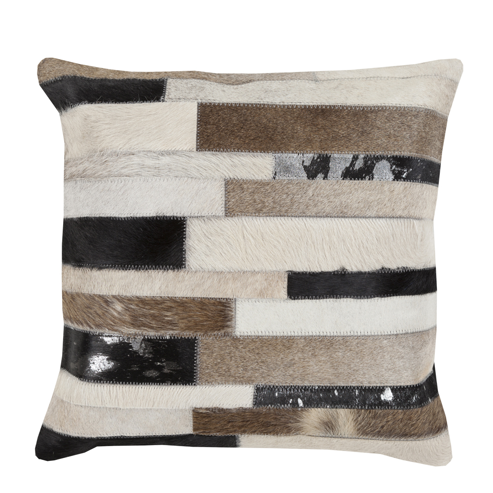 Park Row Hide Pillow 18 x 18 inches Cowhide