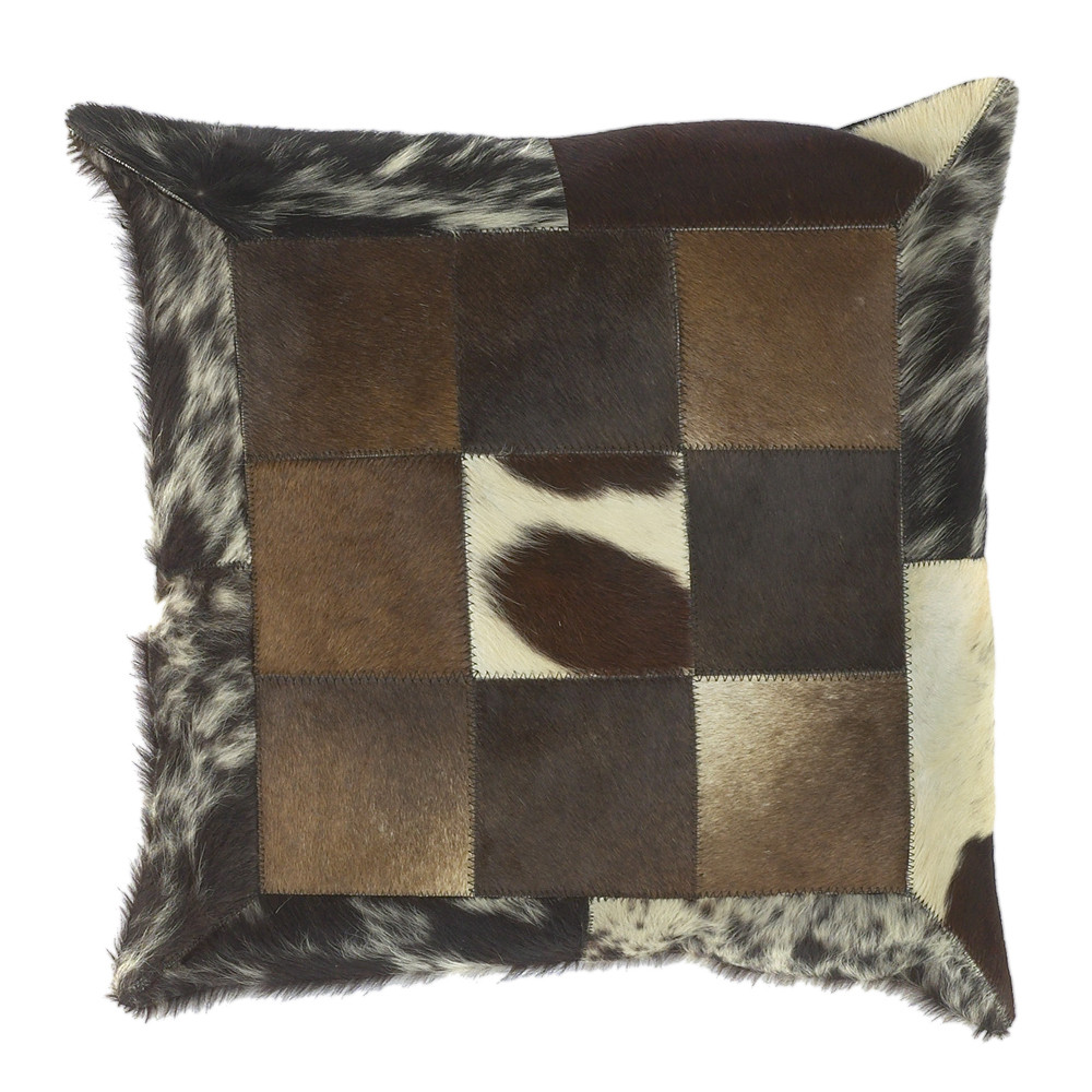 Oil Tycoon Cowhide Pillow - PMH-119 18 x 18 inches Cowhide