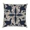 Songbird Pillow  18 x 18 inches Linen Navy