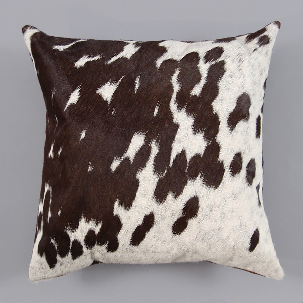 Espresso Spot Pillow 16 x 16 inches Cowhide