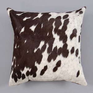 Espresso Spot Pillow 16 x 16 inches Cowhide