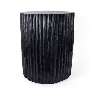 Columna Table 16 diameter x 20 H inches Ebony Finish Sealed Topcoat