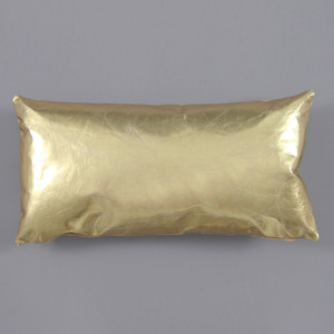 Gold Standard Leather Pillow 10 x 18 inches