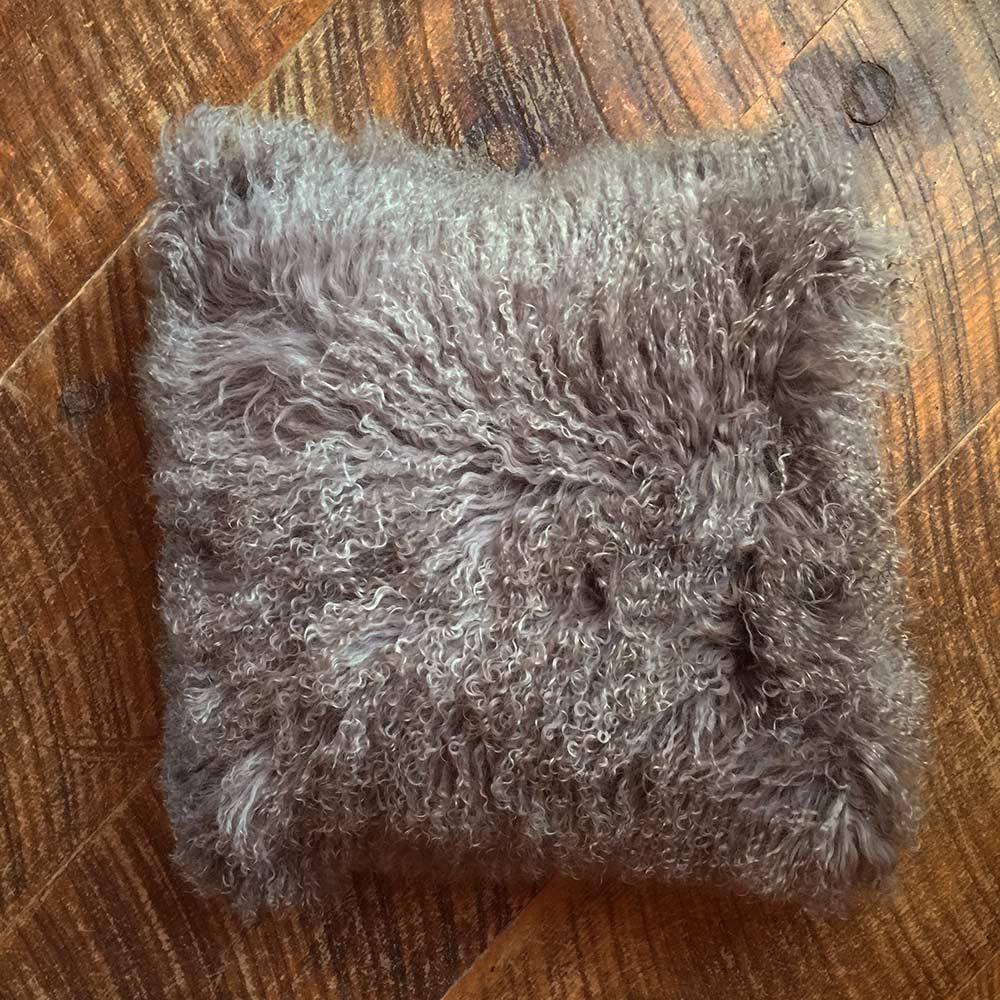 Portabella Mongolian Lamb Pillow 20 x 20 inches