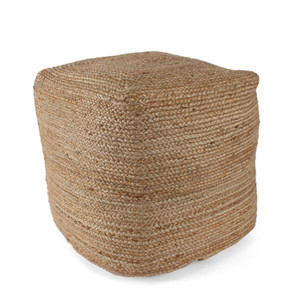 Au Naturel Jute Pouf - POUF-101 18 x 18 x 18 H inches Jute