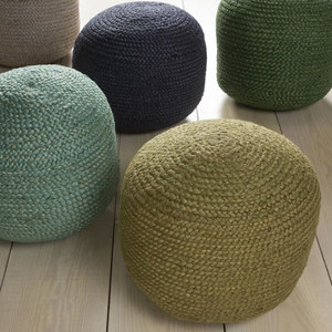 Beach Bungalow Pouf 20 diameter x 14 H inches Jute