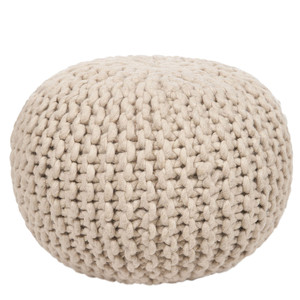 Bar Harbor Wool Pouf - POUF-78 18 diameter x 12 H inches Wool
