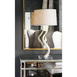 Rhythmic Kudu Core Table Lamp - TL4 - Ac 16.5 diameter x 37 H inches Kudu Horn, Acrylic, Linen