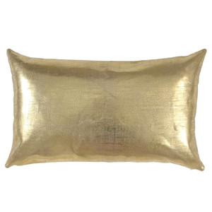 Linen Glisten Pillow 10 x 18 inches Linen Gold