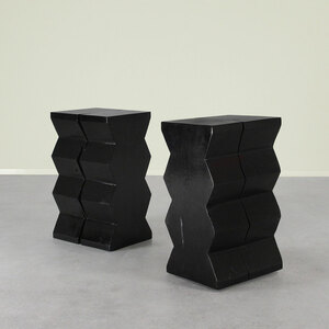 Bandera Solid Wood End Table 12.5 x 15.5 x 24.5 H inches Ebony Finish