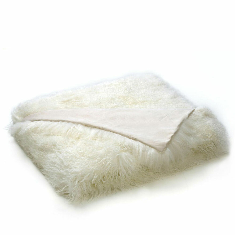 Luxe Mongolian Lamb Blanket 60 x 70 inches Mongolian Lamb Hide
