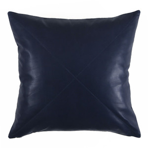 Navy Blue Leather Pillow 18 x 18 inches