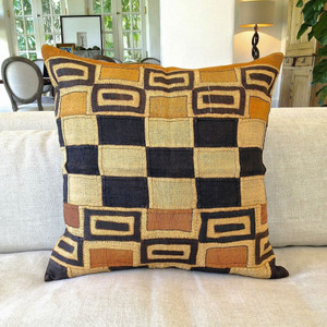 One-Of-A-Kind Authentic Kuba Pillows 26 x 26 inches