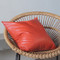 Orange Leather Pillow 20 x 20 inches