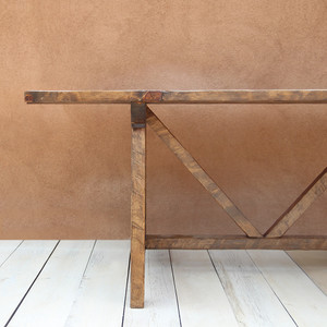 Mesa de Granja Farm Table 36 x 84 x 30 H inches  Honey Brown Finish Sealed Topcoat