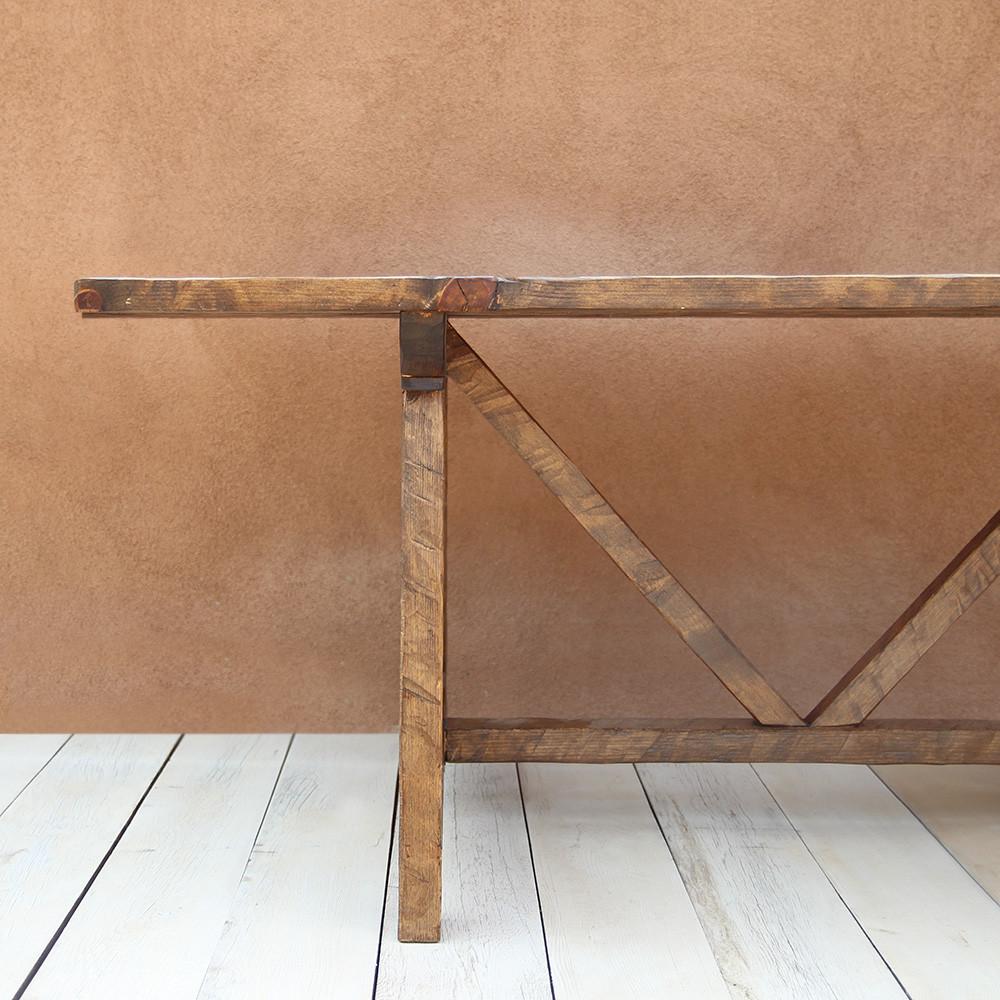 Mesa de Granja Farm Table 36 x 84 x 30 H inches  Honey Brown Finish