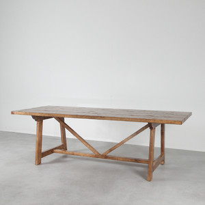 Mesa de Granja Farm Table 36 x 96 x 30 H inches  Pecan Finish Sealed Topcoat