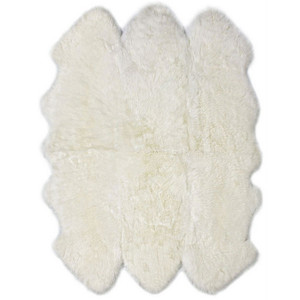 Genuine Sheepskin Rug 72 x 72 inches Brushed Longwool Sheepskin