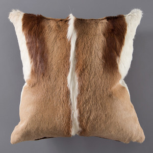 Genuine Springbok Hide Pillow 17 x 17 inches