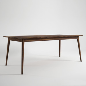 Dinner Party Walnut Dining Table 78 x 39 x 30 H inches American Black Walnut