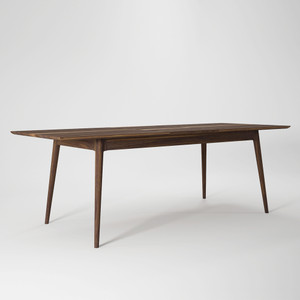 Fabulous Spread Dining Table With Leaf 71 (91 with leaf) x 35 x 30 H inches American Black Walnut