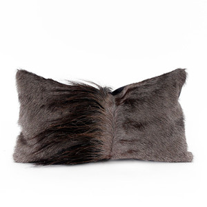 Genuine Wildebeest Hide Pillow 9 x 17 inches