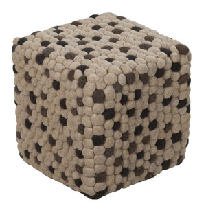 Pebbled Path Pouf - POUF-30 18 x 18 x 18 H inches Wool Felt