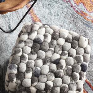 Skipping Stones Pouf 18 x 18 x 14 H inches Wool Felt