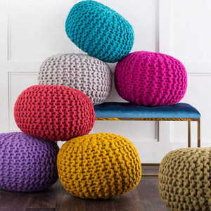 Wool Sweater Poufs