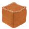 Jute Bengali Pouf  18 x 18 x 18 H inches Jute Orange