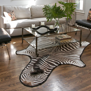 Genuine Burchell Zebra Hide Rug 11 to 15 sq ft (each is unique, please allow for variation) Zebra Hide, Felt Back