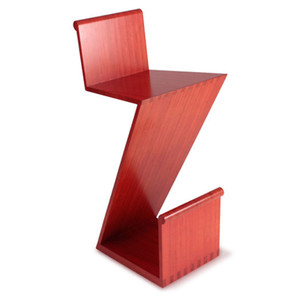 Zee Counter Stool 17 x 18 x 33 H inches Sustainable Bamboo Ruby