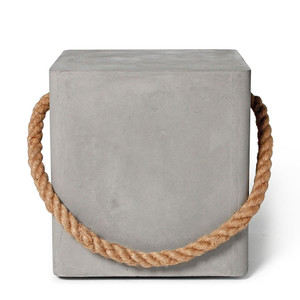 Hold Fast Concrete Cube 15.75 x 15.75 x 17.75 H inches Concrete, Jute Rope