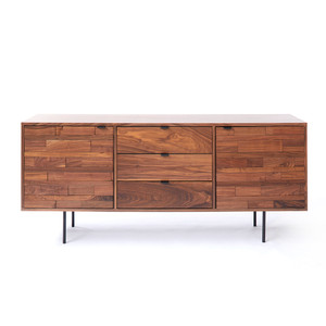 Pasadena Credenza 72 x 18.5 x 30 H inches Walnut, Steel