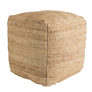 Neutral Natural Pouf - SEPF-001 18 x 18 x 18 H inches Jute