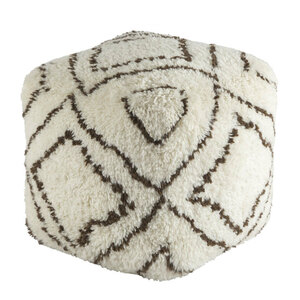 Seventies Lounge Pouf - DEPF-2000 20 x 20 x 20 H inches Wool
