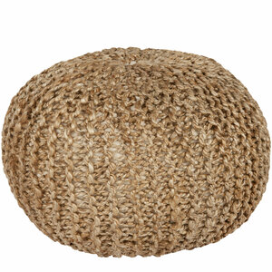 Capistrano Pouf - BRPF-001 20 diameter x 14 H inches Jute Natural