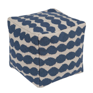 East Bay Artisan Pouf - LJPF-001 20 x 20 x 20 H inches Wool, Cotton