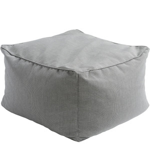 Veranda Outdoor Pouf - PIPF-002 22 x 22 x 14 H inches Acrylic Medium Grey