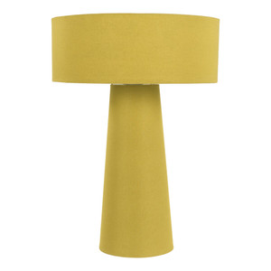True Colors Table Lamp - BRA-867 14.5 diameter x 20.75 H inches Cotton-Wrapped Iron, Cotton Marigold Yellow
