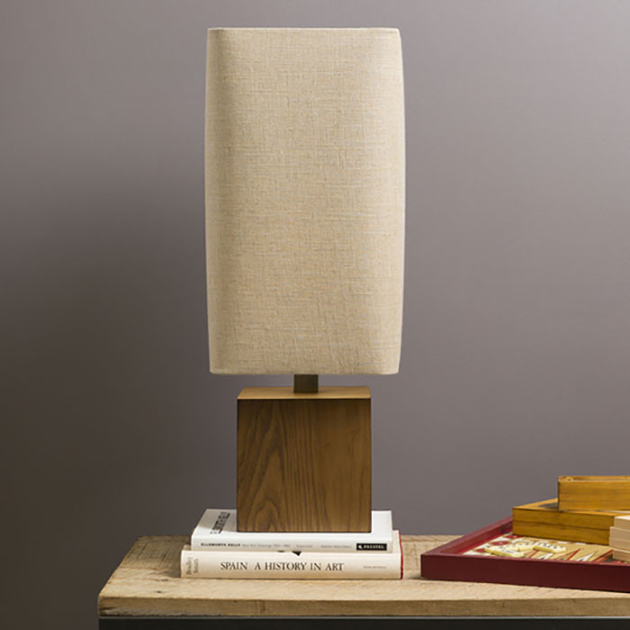 Kubik Table Lamp - LGS-623 11 x 11 x 32.5 H inches Wood, Linen