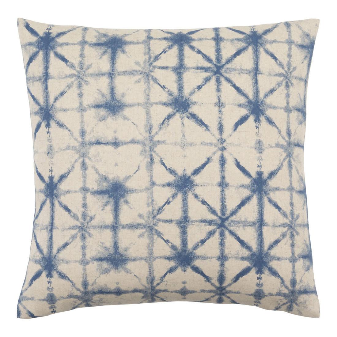 Arimatsu Pillow - NEB-003 18 x 18 inches Polyester, Linen Blue