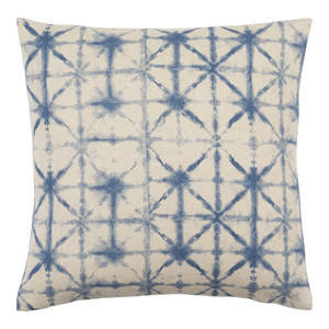 Arimatsu Pillow - NEB-003 18 x 18 inches Polyester, Linen Blue