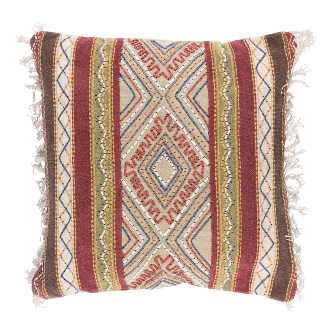 Boho Chic Gitana Pillow - MR-004 20 x 20 inches Cotton