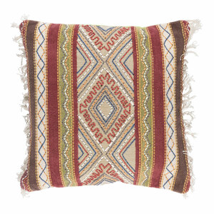 Boho Chic Gitana Pillow - MR-004 20 x 20 inches Cotton