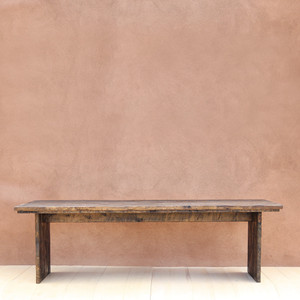 Algodones Farm Table 36 x 96 x 30 H inches Dark Walnut Finish Sealed Topcoat