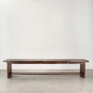 Algodones Farm Bench 16 x 84 x 18 H inches  Honey Brown Finish Oiled Topcoat