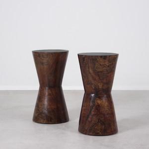 Carlisle Stool Table 11 dia x 20.5 H inches Dark Walnut Finish Sealed Topcoat