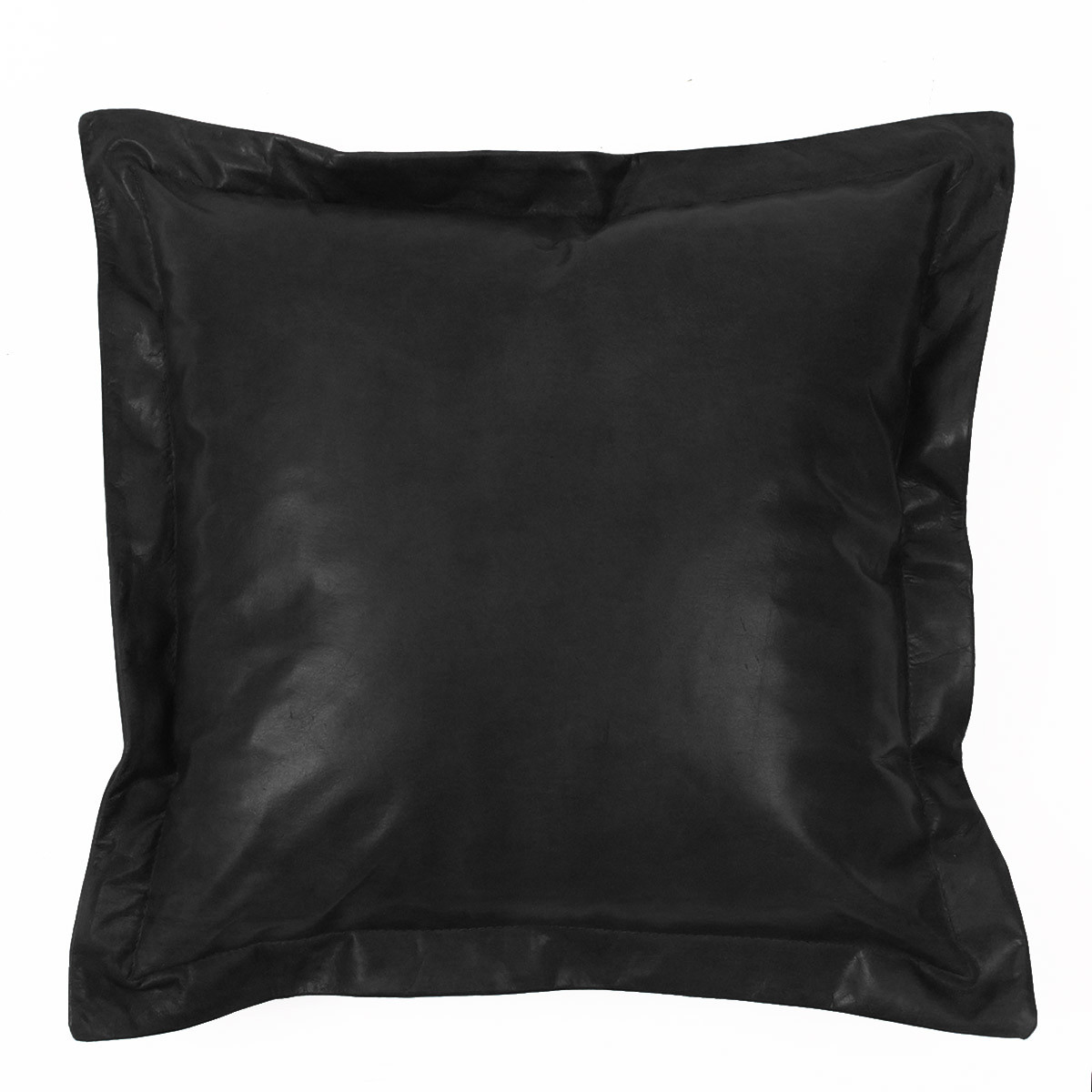 Tabac Pillow 16 x 16 inches Leather Black